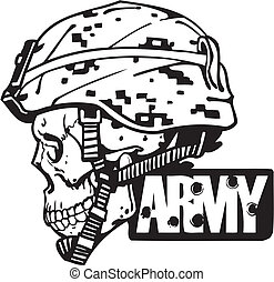 US Army Military Design - Vector illustration.