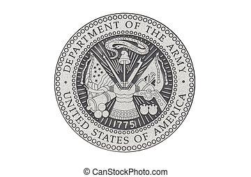 U.S. Army official seal - U.S. Army official sealon a white...