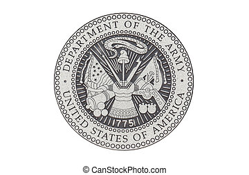 U.S. Army official sealon a white background.