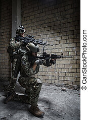 US Army Rangers on mission