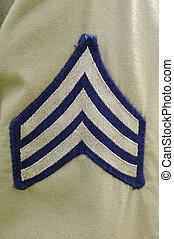 US Army Sergeant Stripes - US Army sergeant stripes on a...