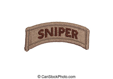 US ARMY sniper badge isolated