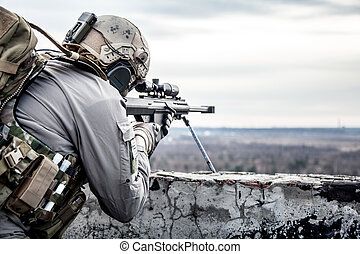U.S. Army sniper during the military operation