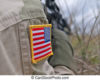 US Army soldier in action