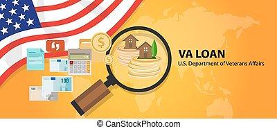 u..s.., asuntos, guaranteed, préstamo de hipoteca, veteranos, unido, va, estados, departamento
