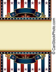 US background theme - A poster with a tricolor backgound and...