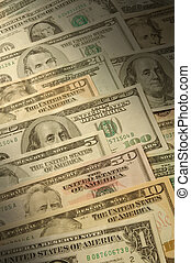 U.S. banknotes of various dollar denominations