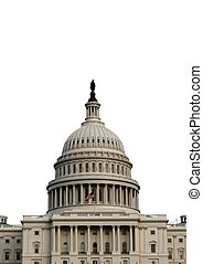 US Capitol 3 - Isolated verticle shot of the US capitol. ...