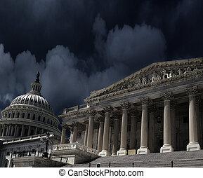 US Capitol DC storm clouds