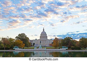 US Capitol in autumn colors
