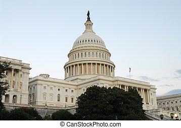 US Capitol in Evening Light