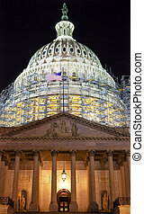 US Capitol North Side Construction Night Stars Washington DC