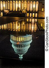 US Capitol North Side Night Stars Washington DC Reflection