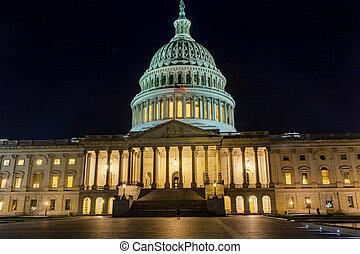 US Capitol North Side Night Stars Washington DC