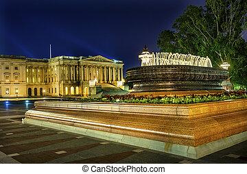 US Capitol Senate Fountain Night Stars Washington DC