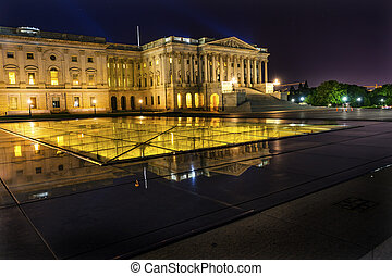 US Capitol Senate Reflection North Side Washington DC