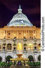US Capitol South Side Construction Night Stars Washington DC