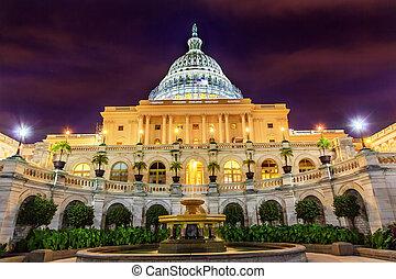 US Capitol South Side Fountain Night Stars Washington DC