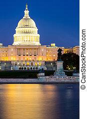 US Capitol Building at dusk, Washington DC, USA