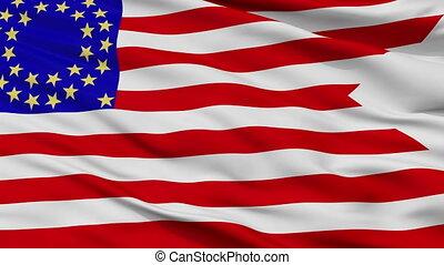 Us Cav 35 Flag Closeup Seamless Loop - Us Cav 35 Flag,...