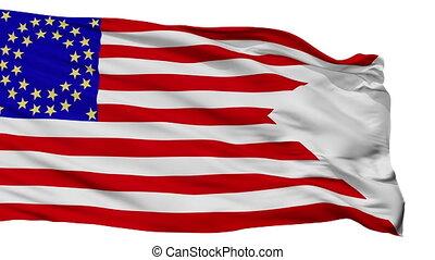 Us Cav 35 Flag Isolated Seamless Loop