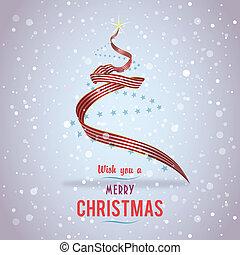 US Christmas tree ribbon