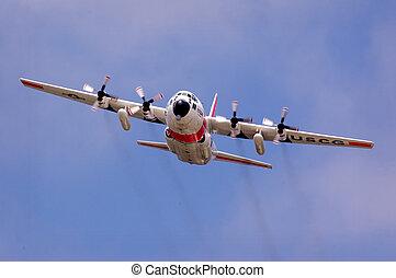 U.S. Coast Guard Lockheed C-130 Hercules aircraft.