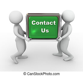 us', 'contact, bouton, hommes, tenue, 3d