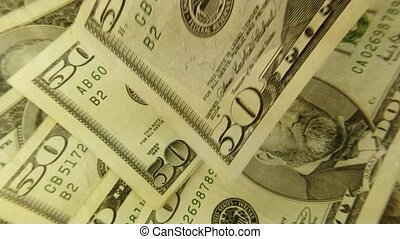 American currency fifty dollar bills - Finance and banking concept