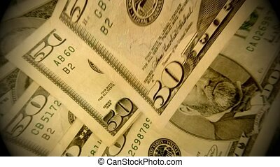 US Currency Fifty Dollar Bills - American currency fifty...