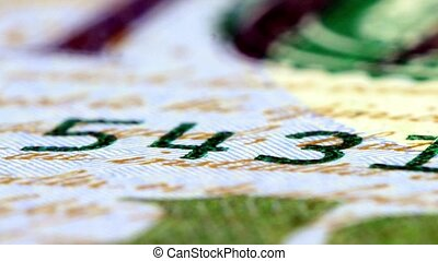 US currency one hundred dollar bill - American currency one...