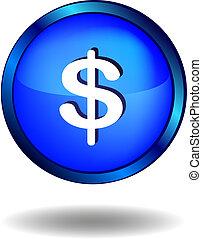 u..s.., dólares, icono