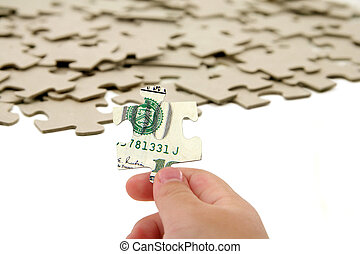 us dollar and puzzle