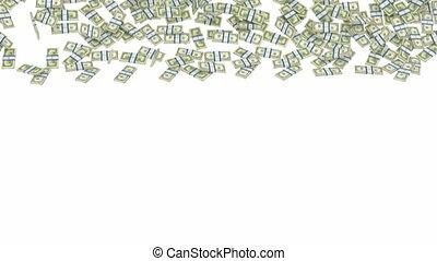 US dollar bundles falling down