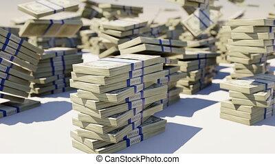 US dollar bundles falling. Slowmo