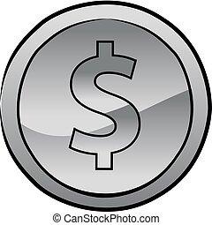 US dollar coin vector icon