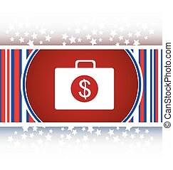 us dollar glossy icon on white background vector