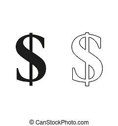 us dollar - green vector icon