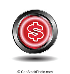Us dollar icon vector