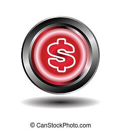 Us dollar icon vector