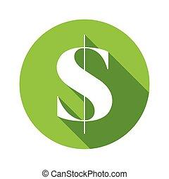 US dollar money sign
