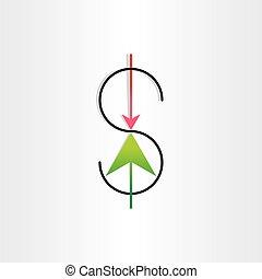 us dollar variation money banking symbol