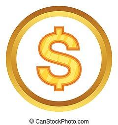 US Dollar vector icon
