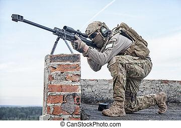 u..s.., ejército, francotirador