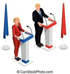 Us Election 2016 Debate Pools Icon Set 03 - Us Election 2016...