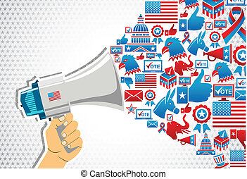 US elections: politics message promotion - US elections...