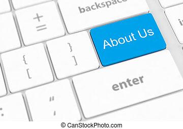 us', entrar, teclado, 'about, key., conceptos, mensaje