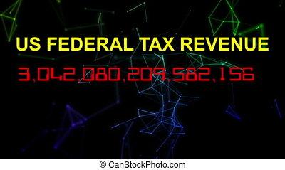 US federal tax revenue live clock counter