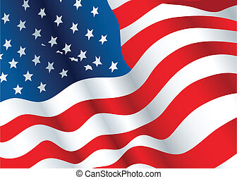US Flag - A waving flag of the United States of America.