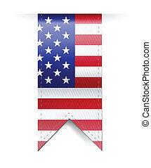 us flag banner illustration design